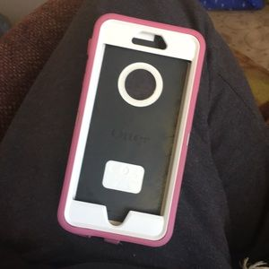 pink iphone 6s plus case with outter box